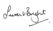 Susan Bright's signature