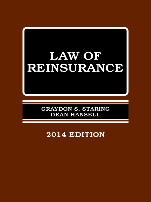 US: The Law of Reinsurance